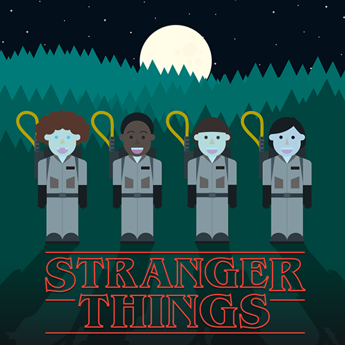 stranger things and ghostbusters meet at last